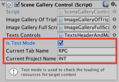 Image Gallery Kit - Tabs - Unity Asset