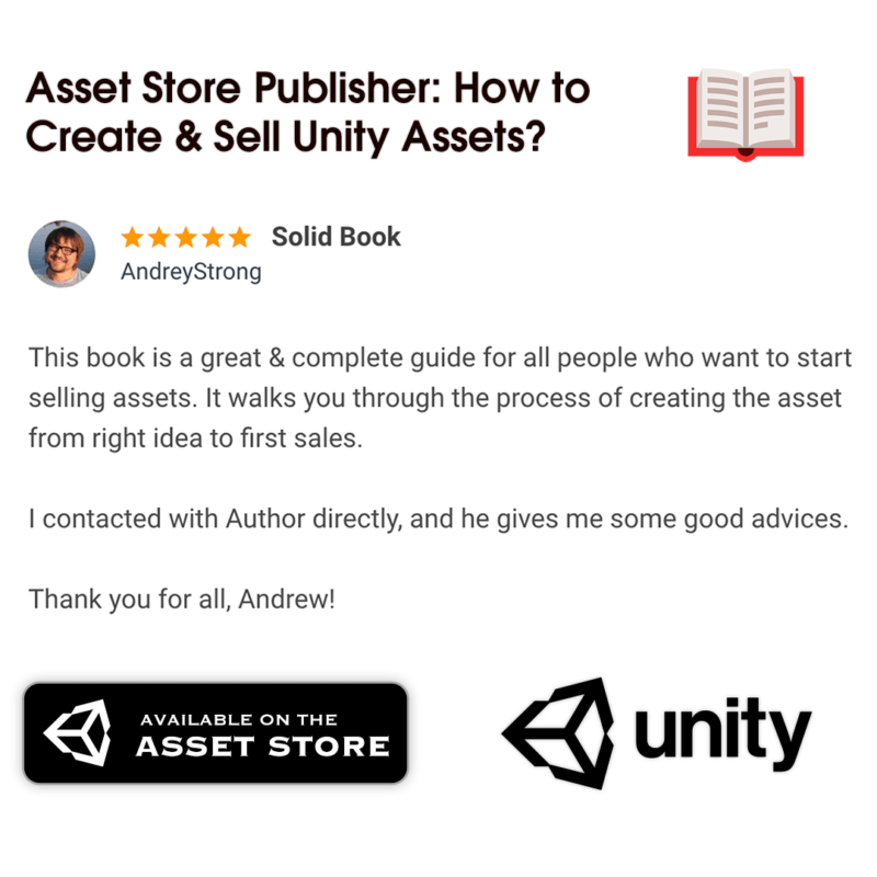 Review for Publisher Book — Unity Asset Store