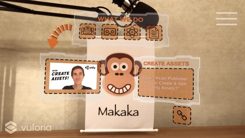 AR Menu — Image — Unity Asset — AR for Business Cards