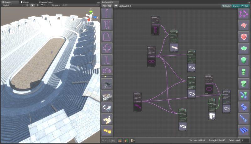 Archimatix Pro — Unity Asset — Parametric 3D Modeling