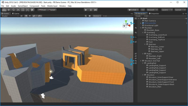 Hide and Show Object in Unity 2019 — New Scene Visibility