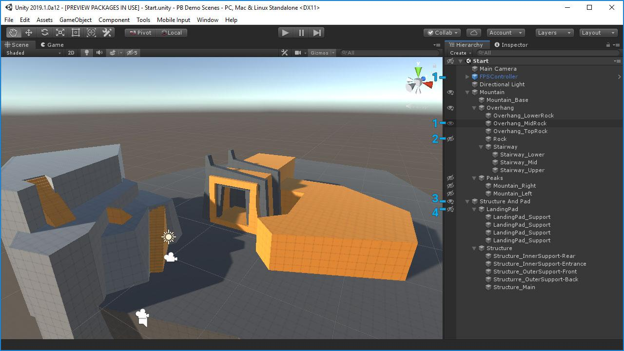 Hide and Show Object in Unity 2019 — Super Scene Visibility