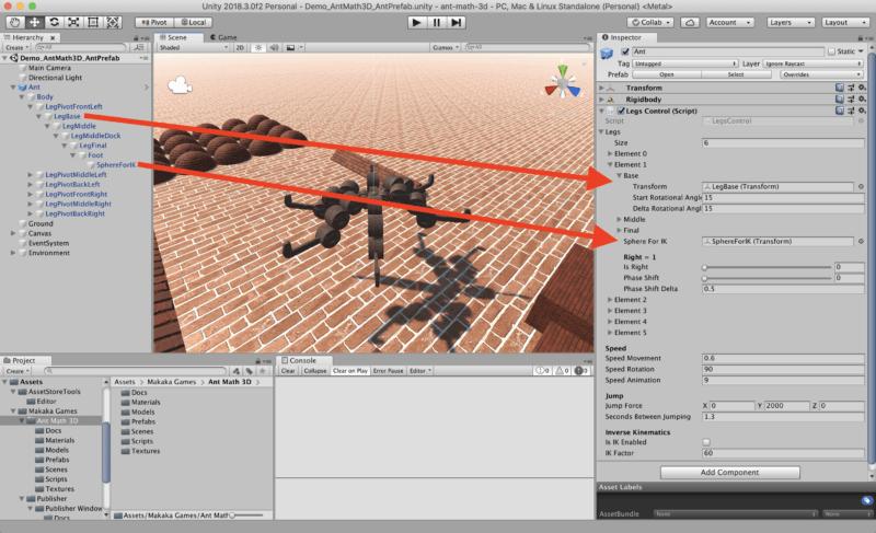 Ant Math 3D Legs Script — Unity Asset