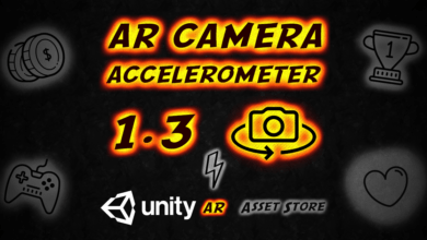 AR Camera ACCELEROMETER — 1.3 — New Version — Unity Asset