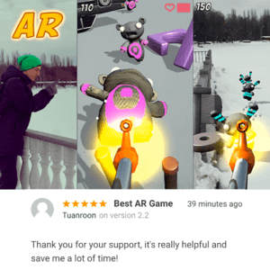 New Review for AR Survival Shooter — Unity Asset