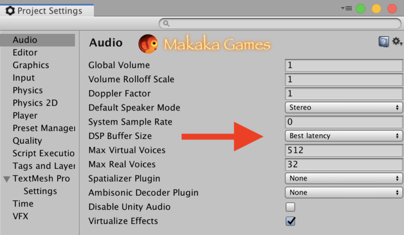 Unity Audio latency fix — audio delay solution