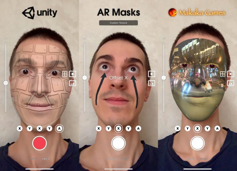 AR Masks (AR Face Filters) UI — Unity Asset — AR Foundation (ARKit, ARCore) — iOS, Android