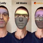 AR Masks (AR Face Filters) — Unity Asset — AR Foundation (ARKit, ARCore) — iOS, Android — Screenshot