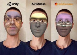 AR Masks (AR Face Filters) — Unity Asset — AR Foundation (ARKit, ARCore) — iOS, Android — Screenshot