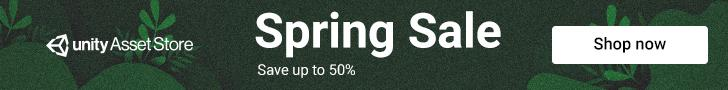 Unity Asset Store Sale - Spring