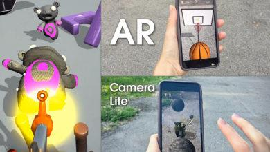 AR Camera Lite — Unity Asset that uses Back/Rear Camera & Motion Sensor (Gyroscope or Accelerometer) on the player's mobile device to display 2D or 3D objects as though they were in the real world. It's Fast, Markerless, Pseudo Augmented Reality.